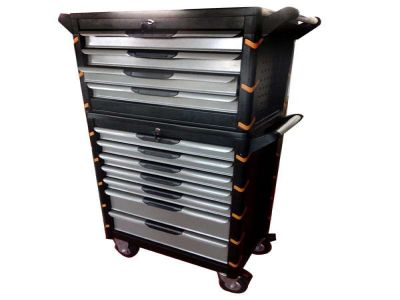 Gray Two Cut Tool Cabinet